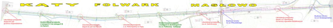 Przejazdy przez tory E59 na terenie gminy Rawicz od granicy z Dolnym Śląskiem do stadiunu na ul. Świętojańskiej