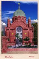 Synagoga na widokówce wydanej około 1900 r.