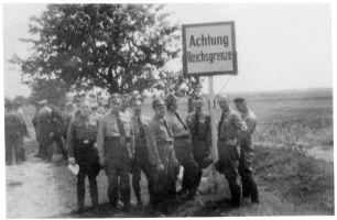1 września 1939 r. Königsdorf (Załęcze) - granica z III Rzeszą