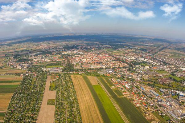 Panorama Rawicza od południowego wschodu