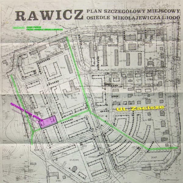 Miejscowy plan zagospodarowania Osiedla Mikołajewicza. Wygasł z końcem 2003 r.